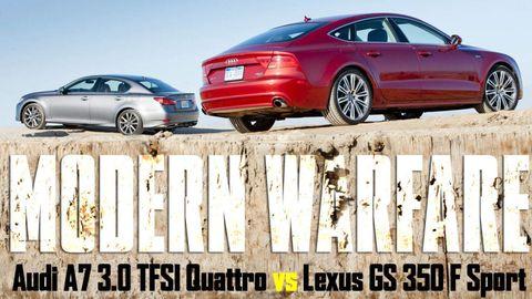 modern warfare audi a7 30 tfsi quattro vs lexus gs 350 f sport