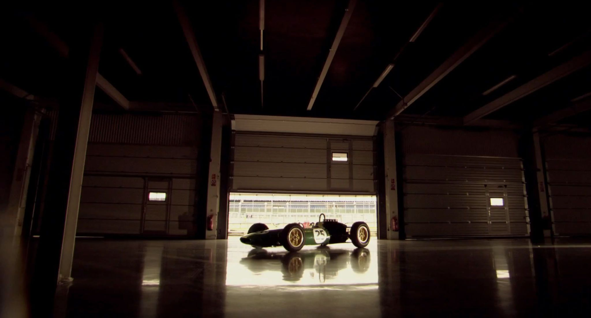 David Coulthard drives Jim Clark's Lotus 25