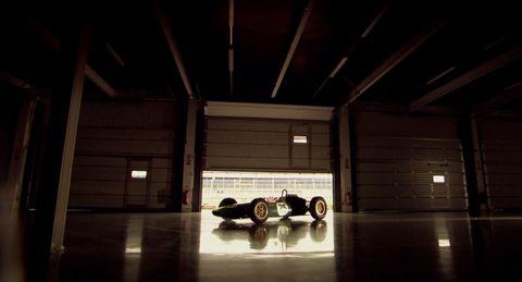 David Coulthard drives Jim Clark's Lotus 25
