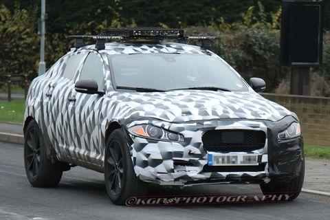 Jaguar SUV Test Mule Spy Shot