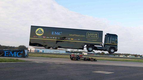 Lotus F1 Truck Jump