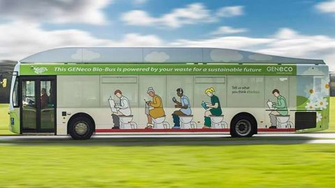 Poop-powered bus now available to UK transit riders