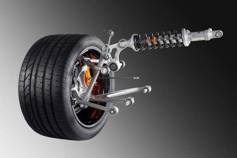 The Lamborghini LP700-4's Suspension