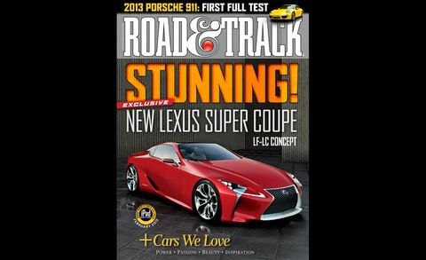 road  track february 2012 cover