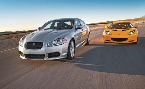 2011 Lotus Evora vs  2011 Jaguar XFR - Comparison Test