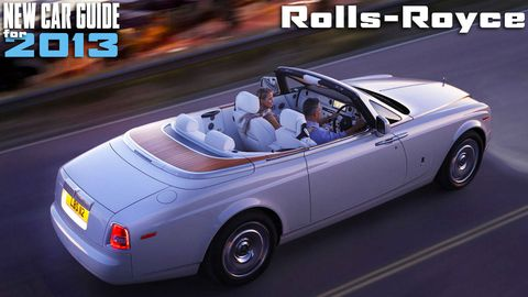 New Rolls-Royce Models for 2013