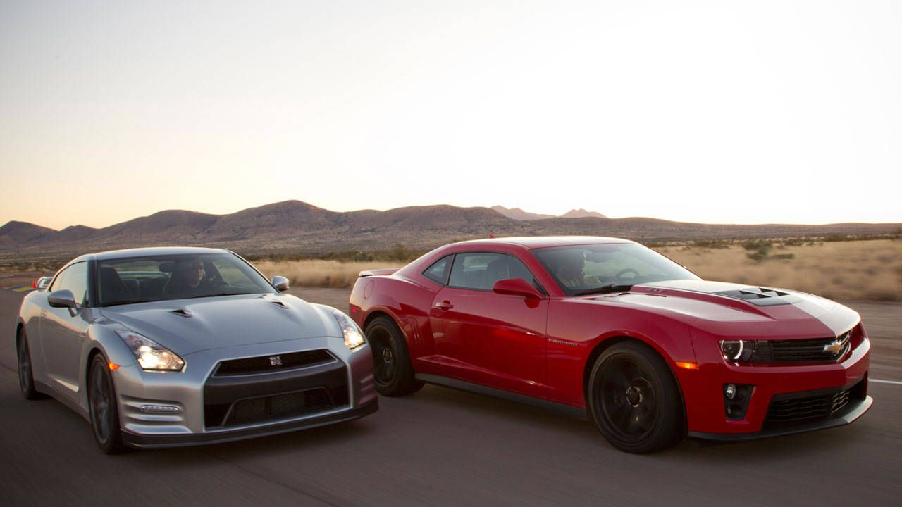 Performance Results Of The Chevy Camaro Zl1 Vs Nissan Gt R Road Test Roadandtrack