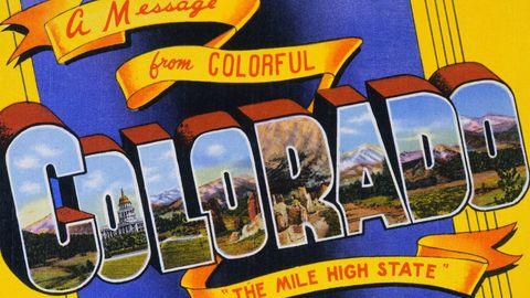 Postcard of Colorado. ca. 1940, Postcard of Colorado ...