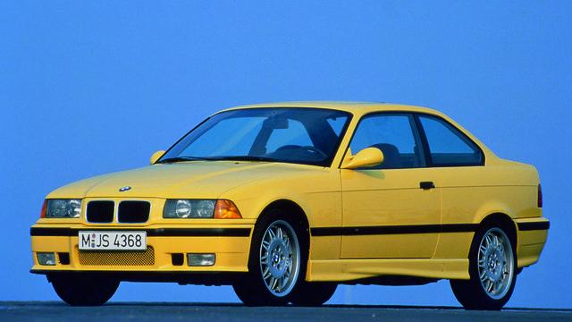 yellow bmw e36 m3
