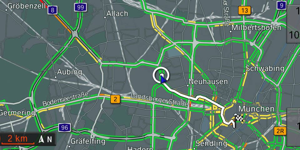 Real Time Traffic Information from BMW ConnectedDrive Real Time Traffic Map on