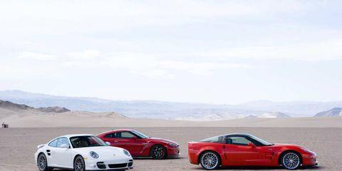 2010 Chevrolet Corvette ZR1, 2010 Porsche 911 Turbo, 2011 Nissan GT-R Premium