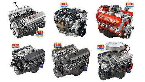 Free shipping on all GM engines at Jegs