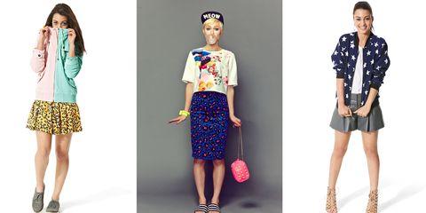 Clothing, Footwear, Blue, Leg, Sleeve, Collar, Pattern, Shoulder, Textile, Joint,