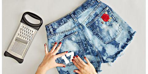 Blue, Product, Finger, Calculator, Denim, Textile, Hand, Office equipment, Nail, Technology,
