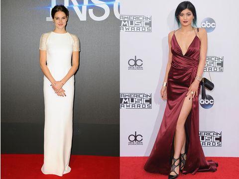 Dress, Shoulder, Flooring, Red, Joint, Formal wear, Waist, Style, Carpet, Beauty,