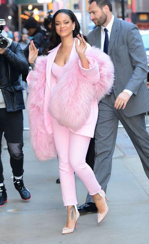 Clothing, Footwear, Leg, Trousers, Hat, Shoe, Coat, Shirt, Outerwear, Pink,