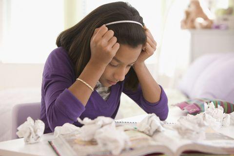 Annoyed Student Studying