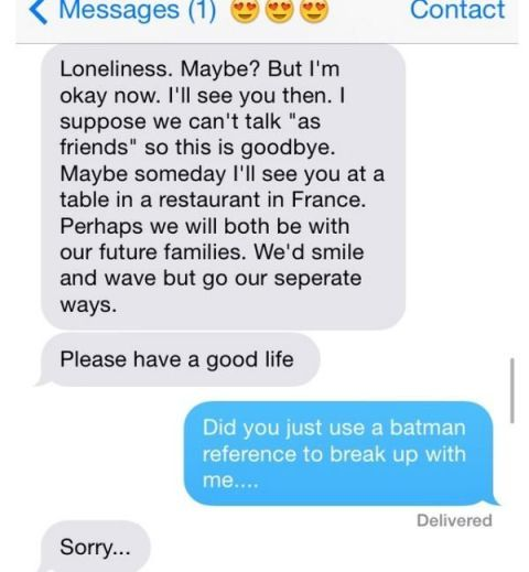 Best response to a break up