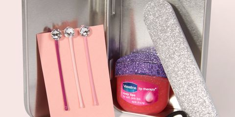 Pink, Magenta, Purple, Metal, Cosmetics, Material property, Gloss, Peach, Rectangle, Silver,