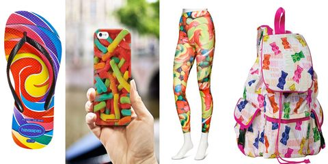 Colorfulness, Pattern, Candy, Confectionery, Nail, Visual arts, Creative arts, Costume design, Sweetness, Nightwear,