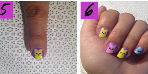 Peeps Nail Art Tutorial Easter Nail Art How To