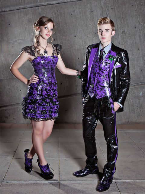 6 Mind-Blowing Prom Dresses Made Out Of Duct Tape