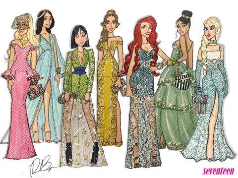 People, Standing, Pattern, One-piece garment, Fashion, Waist, Costume design, Art, Fashion illustration, Illustration,