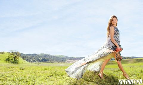 People in nature, Summer, Grassland, Plain, Field, Pasture, Meadow, Long hair, Rural area, Model,