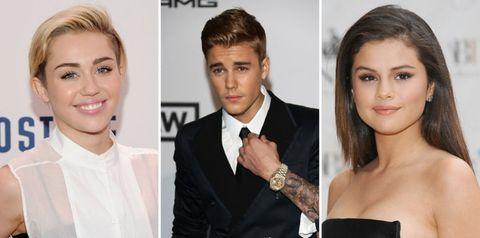 Miley Justin Selena Triangle