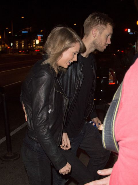 Jacket, Outerwear, Night, Interaction, Leather jacket, Leather, Midnight, Flash photography, Blond, Pocket,