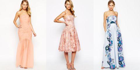 Clothing, Dress, Sleeve, Shoulder, Pattern, Waist, Formal wear, One-piece garment, Pink, Style,