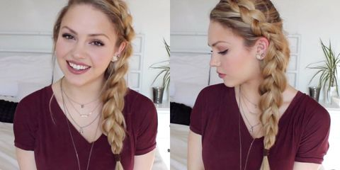 how to do a messy side braid using bobby pins - tutorial plus video