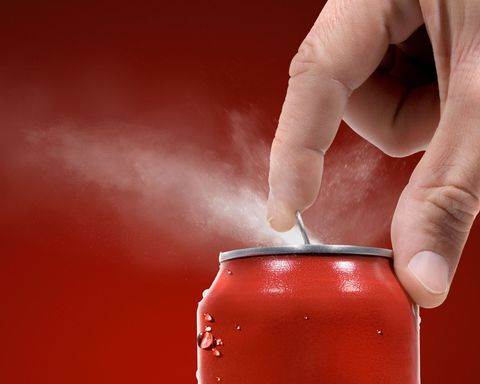Opening Can Of Soda