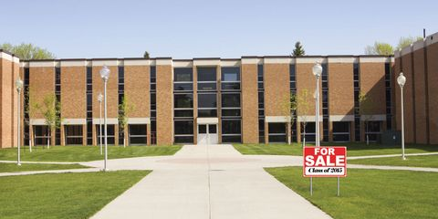 Real estate, Facade, Signage, Campus, Commercial building, Lawn, Academic institution, Headquarters, Sign, University,