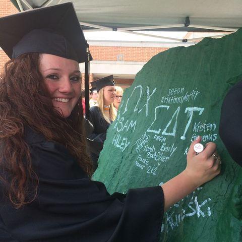 Sleeve, Academic dress, Mortarboard, Scholar, Interaction, Headgear, Handwriting, Graduation, Blackboard, Student,