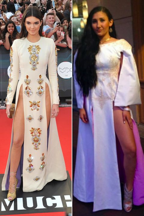 Teen Recreates Kendall Jenner\'s Double-Slit Dress For Prom, Promptly ...