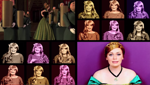 Head, Hairstyle, Purple, Style, Jaw, Collage, Neck, Violet, Animation, Hair coloring,