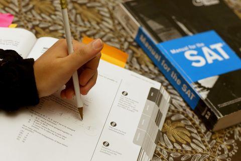 SAT prep book