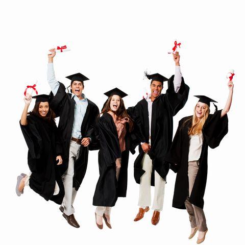 Social group, Hat, Formal wear, Headgear, Costume accessory, Celebrating, Team, Costume hat, Gesture, Costume,