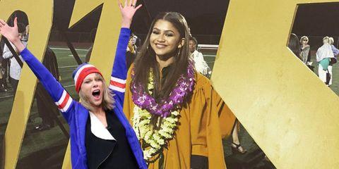 Taylor Swift Zendaya Graduates
