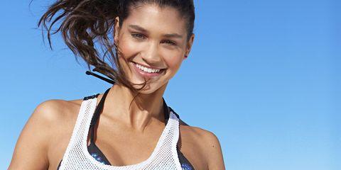Ball, Skin, Sports equipment, Brassiere, Summer, Chest, Waist, Beauty, Ball game, Thigh,