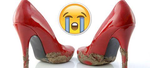 Red, Carmine, Sandal, Basic pump, High heels, Gloss, Design, Plastic, Bridal shoe, Synthetic rubber,