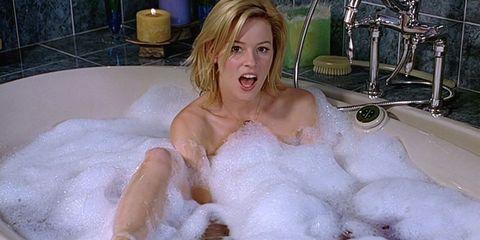 Blond, Bathtub, Bathing, Fur, Jacuzzi, Chest, Trunk, Foam, Washing,