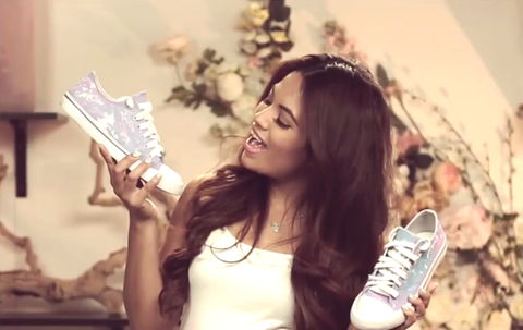 Human, Facial expression, Beauty, Long hair, Photography, Money, Sneakers, Paper, Currency, Cash,