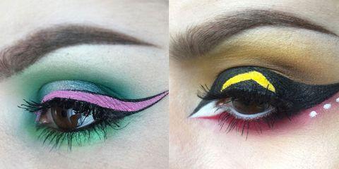 Green, Blue, Brown, Yellow, Eyelash, Skin, Eye, Colorfulness, Eyebrow, Violet,