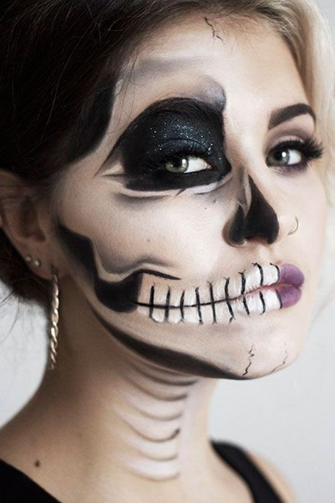 Halloween Make Up Skelet.Skeleton Makeup Tutorial Halloween Sugar Skull Makeup