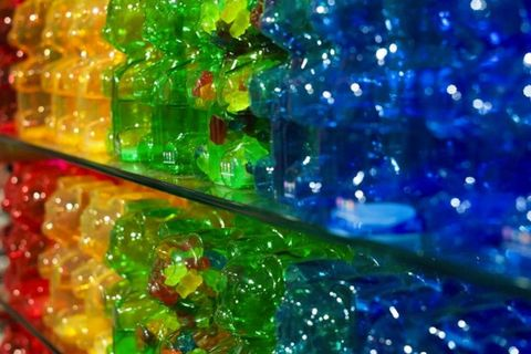 Glass, Colorfulness, Light, Gummi candy, Plastic, Majorelle blue, Confectionery, Gummy bear, Candy, Collection,