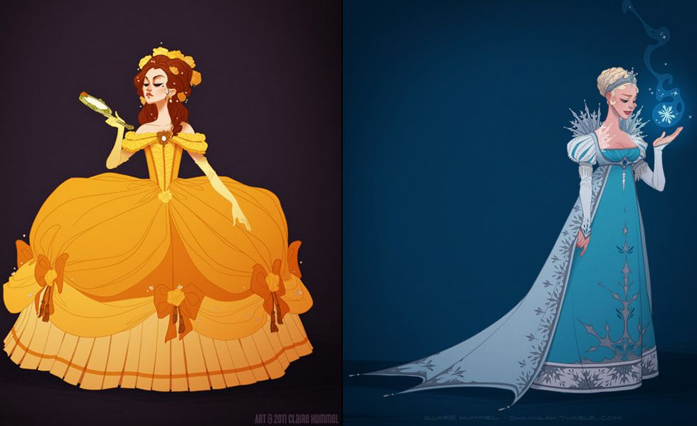 If Disney Princess Dresses Were Historically Accurate