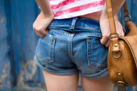 Clothing, Blue, Brown, Denim, Jeans, Textile, Pocket, Style, jean short, Bag,