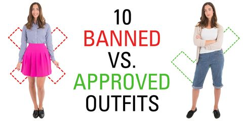 bd3f72a3 10 Banned Vs. Approved Outfits That Show How Ridiculous School Dress Codes  Really Are